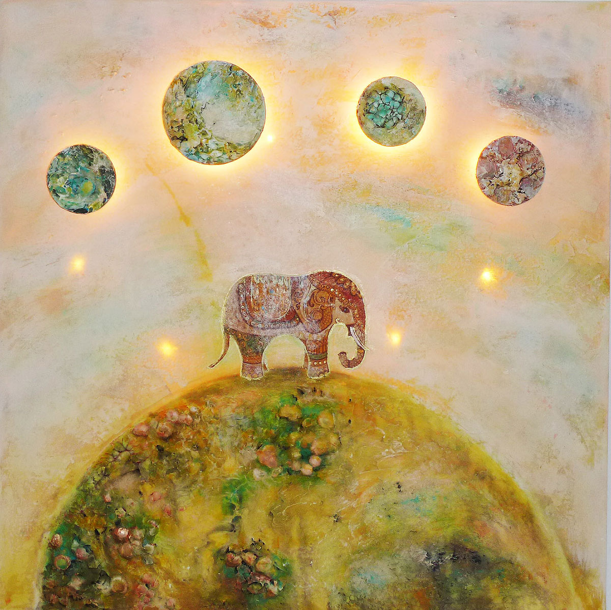 Light Painting: Elephant - Gallery for light art, acrylic paintings ...